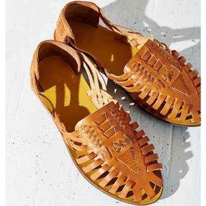 Ecote Tan Huarache Woven Sandals